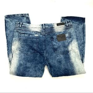 Stitches & Rivets NWT Moto Style Jeans Size W46